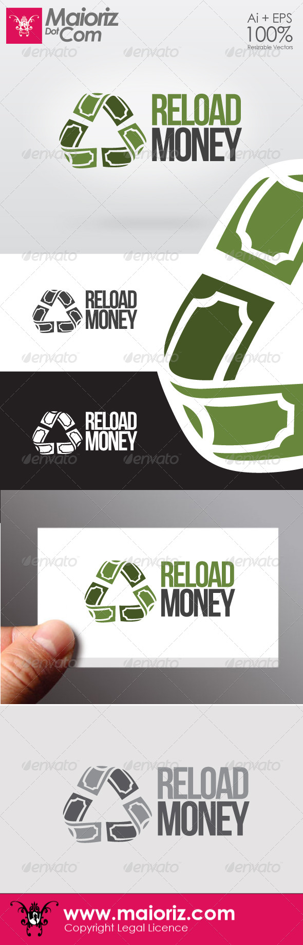 Reload Money Logo - Vector Abstract