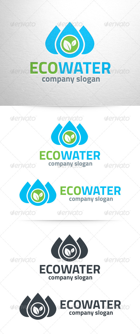 Eco Water Logo Template - Nature Logo Templates