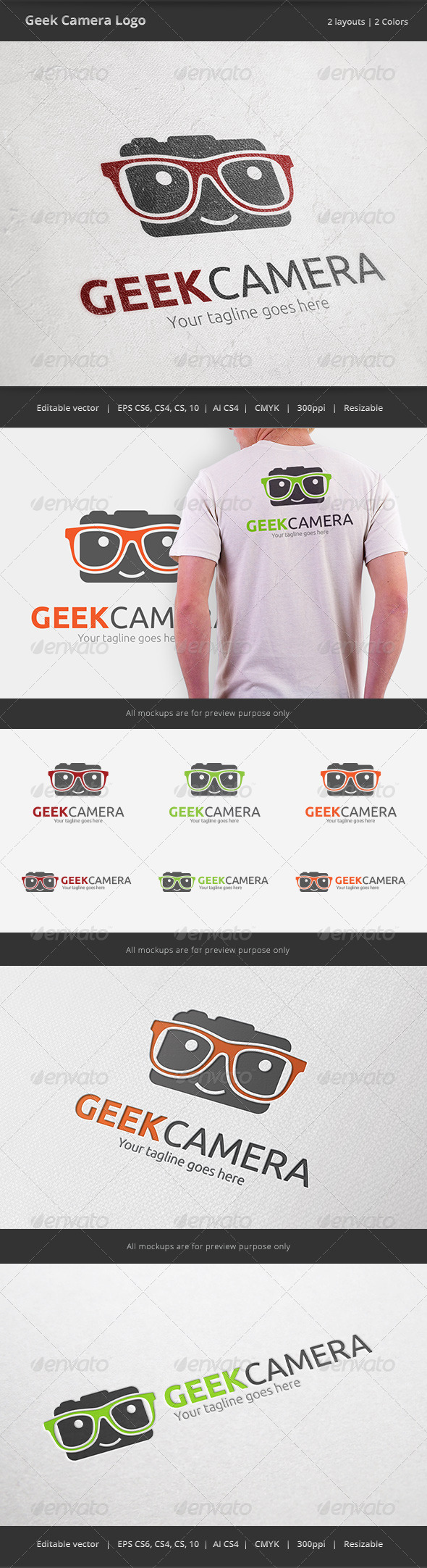 Geek Camera Logo - Humans Logo Templates