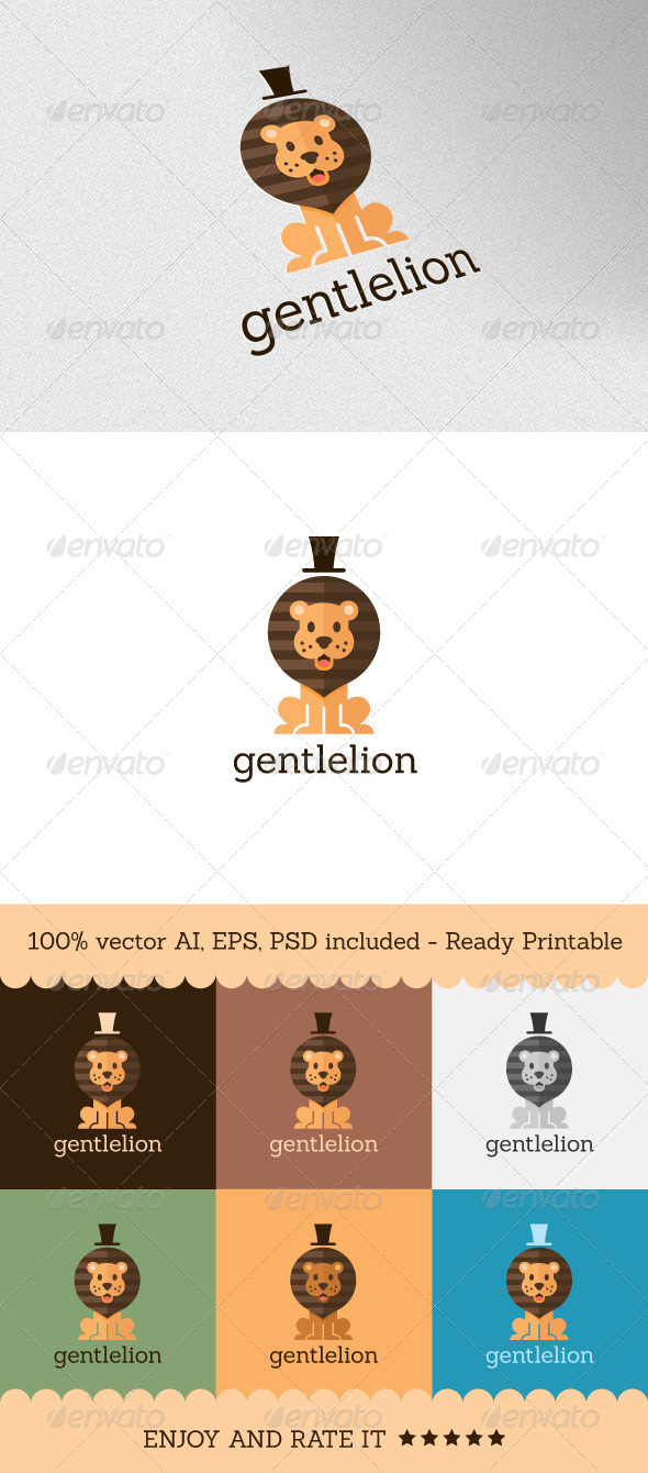 Gentlelion - Animals Logo Templates