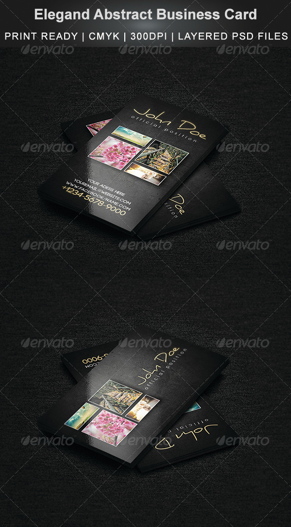 Elegand Abstract Business Card - Creative Business Cards