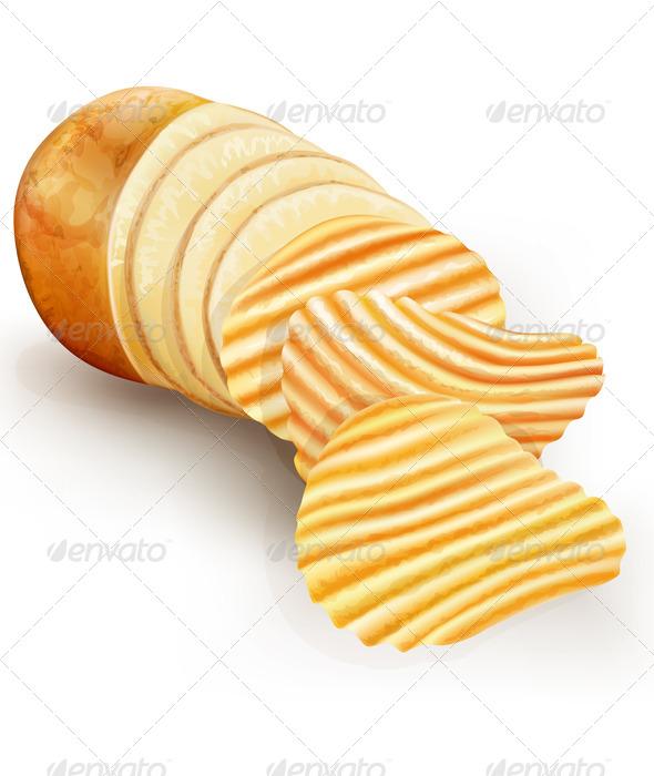 Wavy Potato Chips - Food Objects