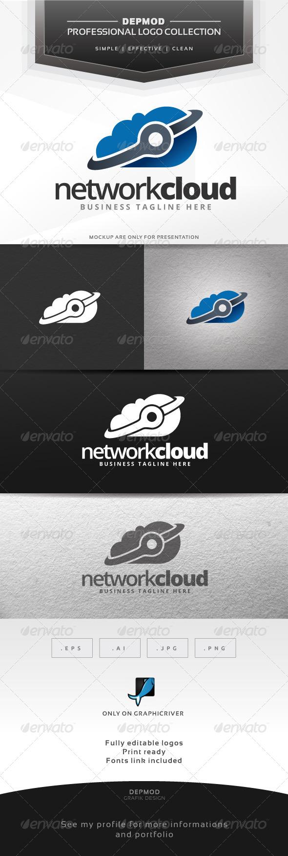 Network Cloud Logo - Symbols Logo Templates