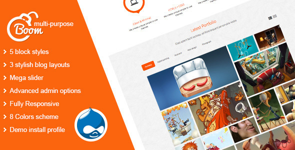 Boom – Multi-Purpose Drupal Theme