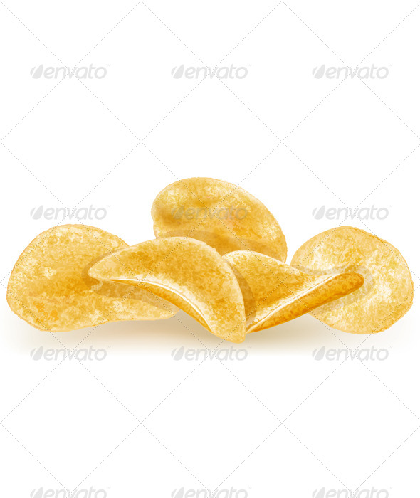 Heap of Potato Chips - Food Objects
