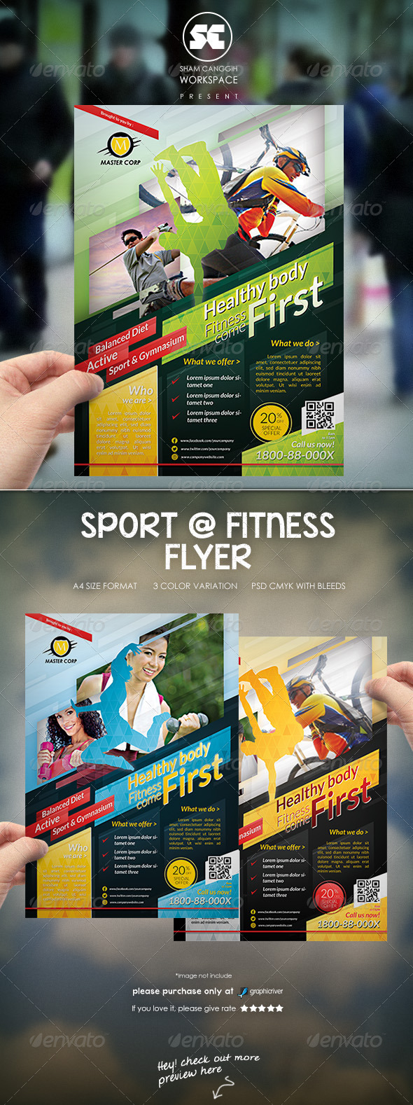 Sports & Fitness Flyer/Magazine Ads - Sports Events