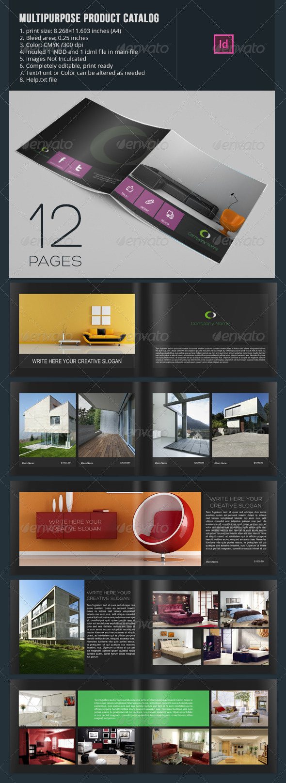 Multipurpose Product Catalog - 12 Pages - Catalogs Brochures