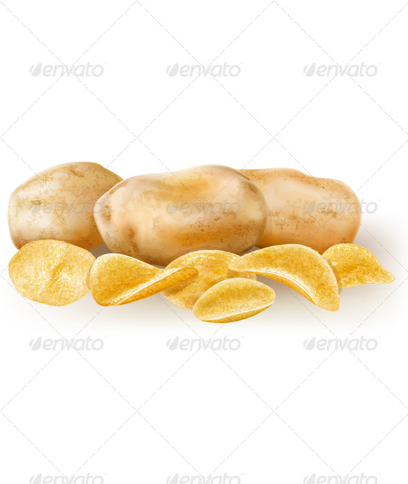 Potatos and Potato Chips - Food Objects