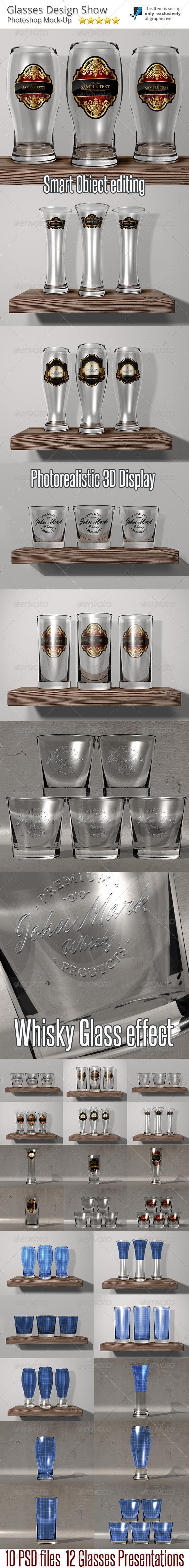 Glasses Mock-Up Presentation - Food and Drink Packaging