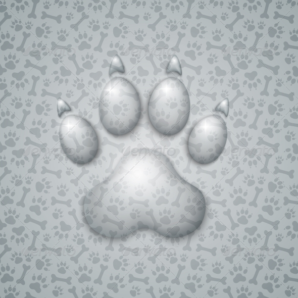 Trace Dog in the Form of Droplets Water - Animals Characters