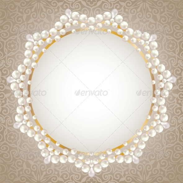 Pearl Frame - Backgrounds Decorative