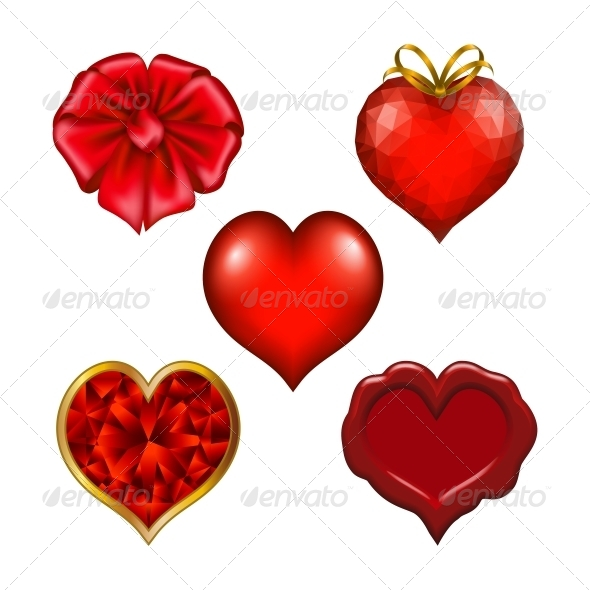 Set of Hearts for Design. - Valentines Seasons/Holidays
