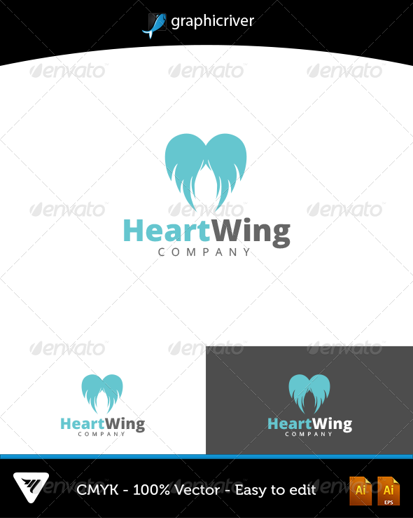 HeartWing - Logo Templates