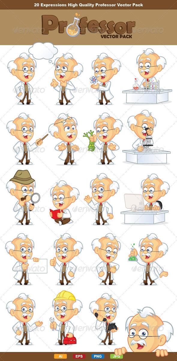 Professor Vector Pack - People Characters