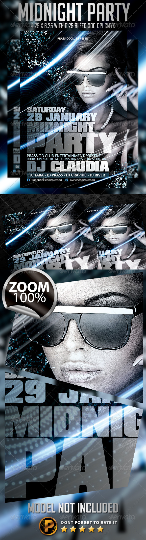 Midnight Party Flyer Template - Clubs & Parties Events