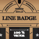 Line Badge - GraphicRiver Item for Sale