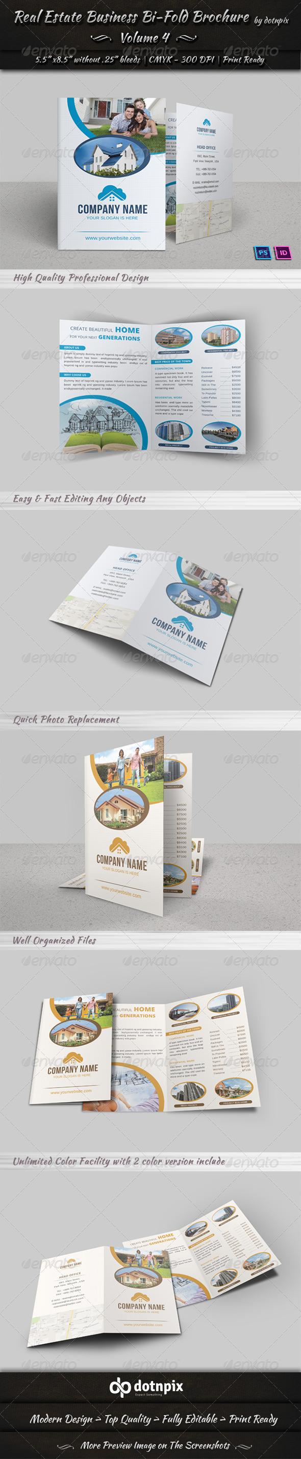 Real Estate Business Bi-Fold Brochure | Volume 4 - Corporate Brochures