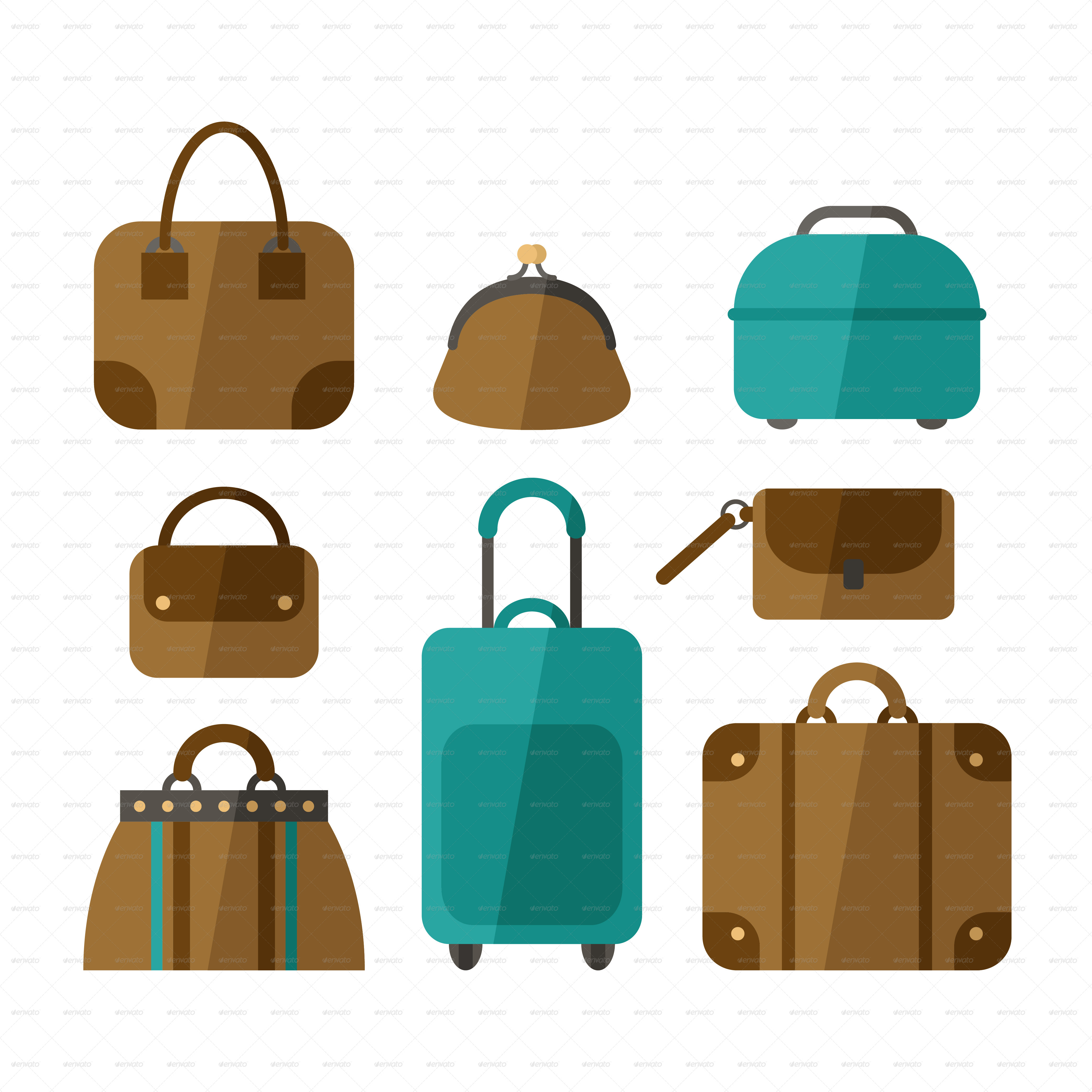 Set of Handbags