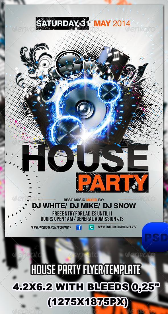 House Party Flyer Template - Events Flyers
