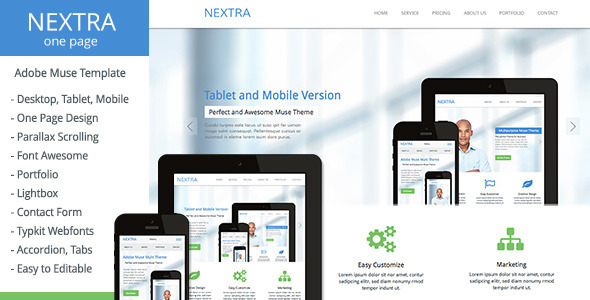 Nextra – One Page Muse Template