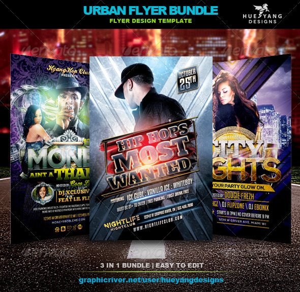 Urban Flyer Bundle - Clubs & Parties Events