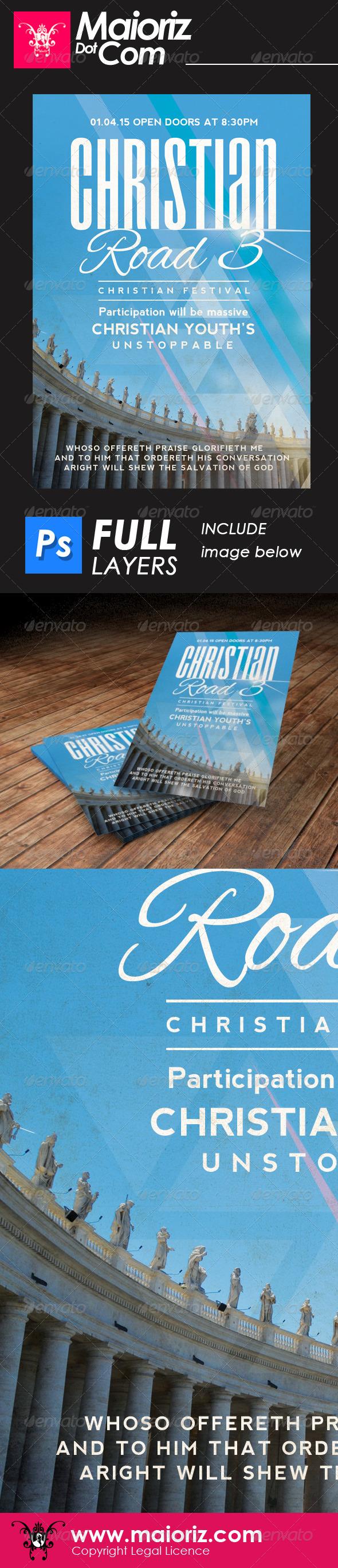 Christian Road 3 Flyer Church - Church Flyers