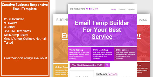 Creative Business Email Template – Responsive