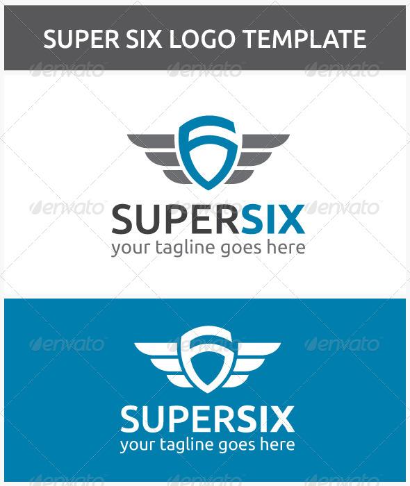 Super Six Logo - Numbers Logo Templates