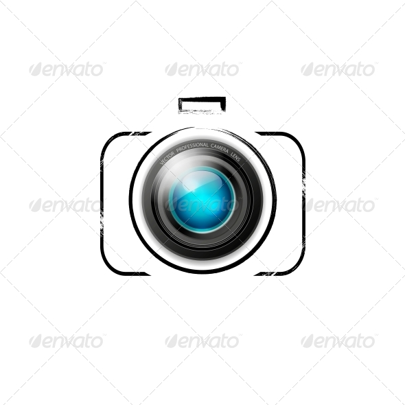 Vector Camera Icon - Computers Technology