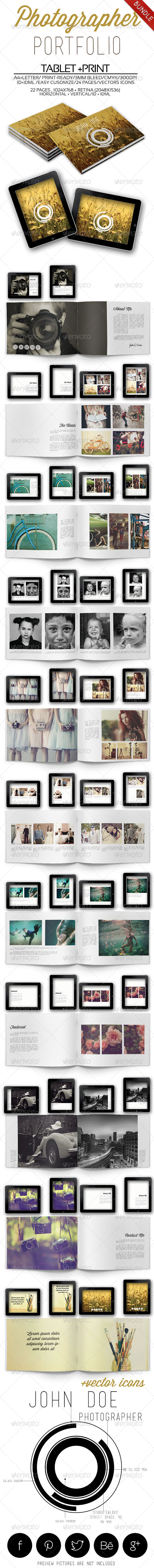 Photographer Portfolio Bundle - Portfolio Brochures
