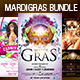 3 MardiGras n Carnival  Flyer Bundle - GraphicRiver Item for Sale