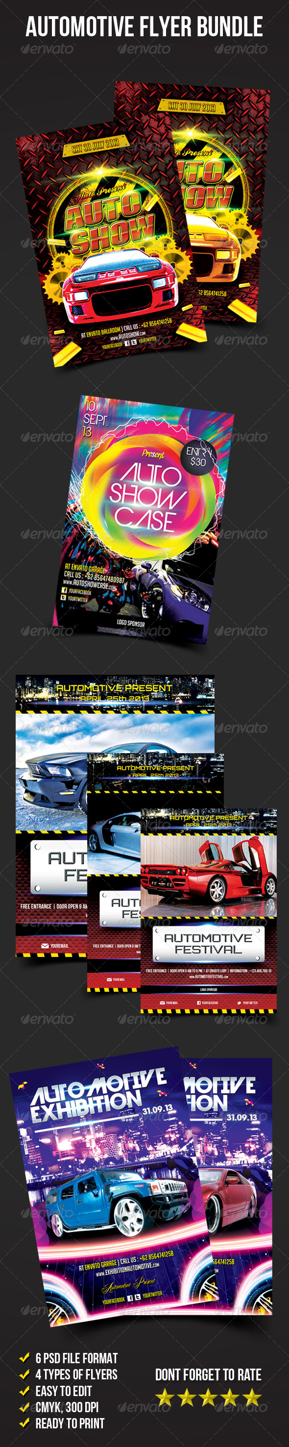 Flyer Bundle 02 (Automotive Flyer) - Miscellaneous Events