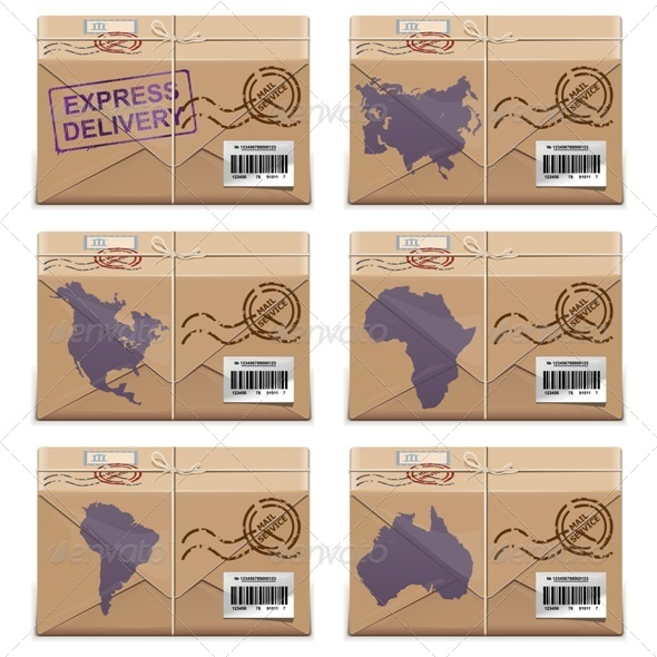 Vector Parcel Icons - Business Conceptual