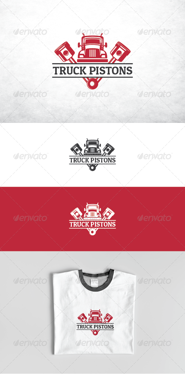Transport Truck Pistons - Objects Logo Templates