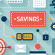 Commerce and Savings Flat Illustration - GraphicRiver Item for Sale