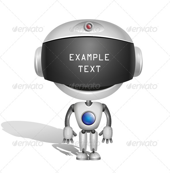 Robot with Screen Indicator - Characters Vectors