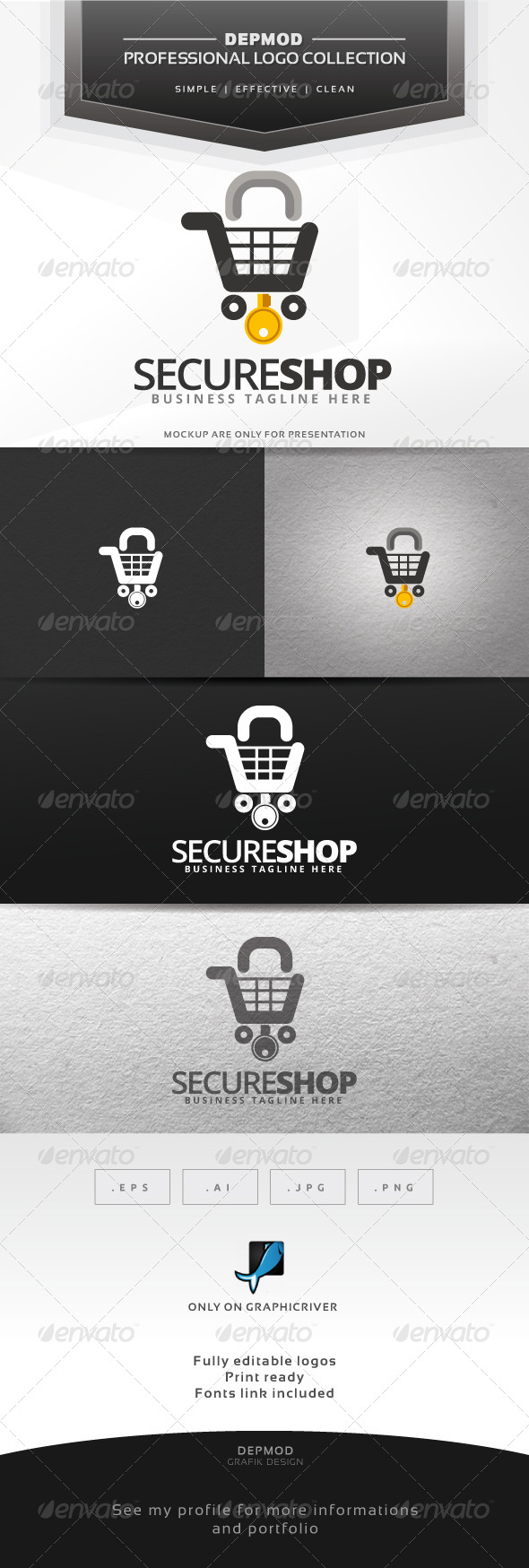 Secure Shop Logo - Symbols Logo Templates