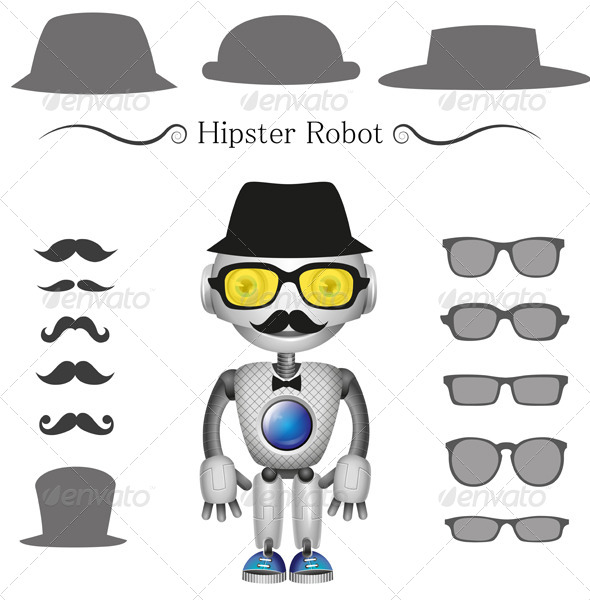 Hipster Robot - Miscellaneous Characters
