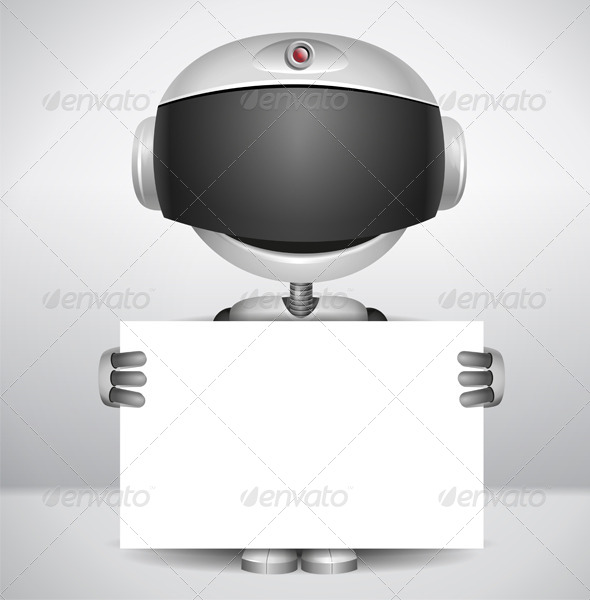 Robot holding Paper - Miscellaneous Characters