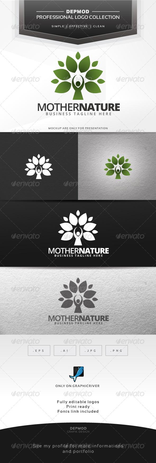 Mother Nature Logo - Symbols Logo Templates