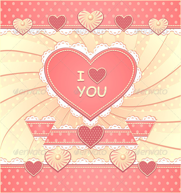 Valentines Card with Hearts and Scrapbooking - Valentines Seasons/Holidays