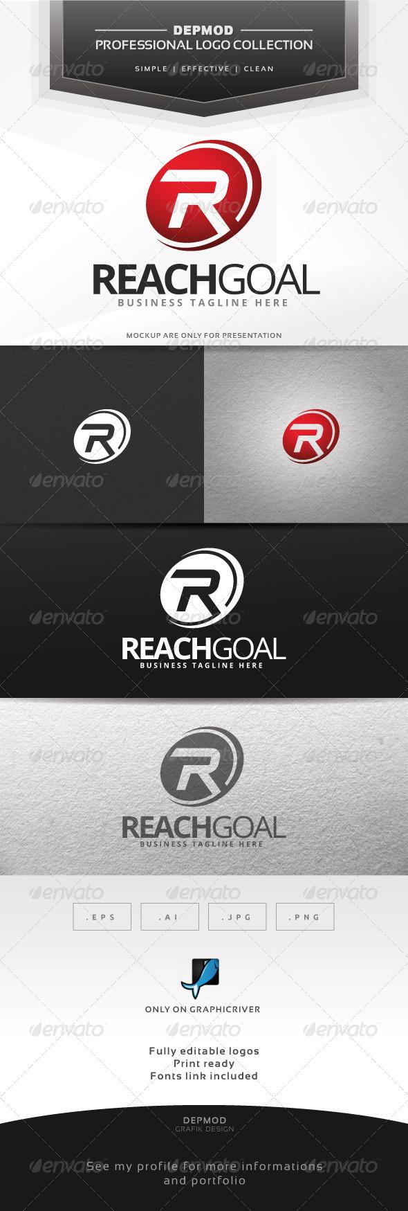 Reach Goal Logo - Letters Logo Templates