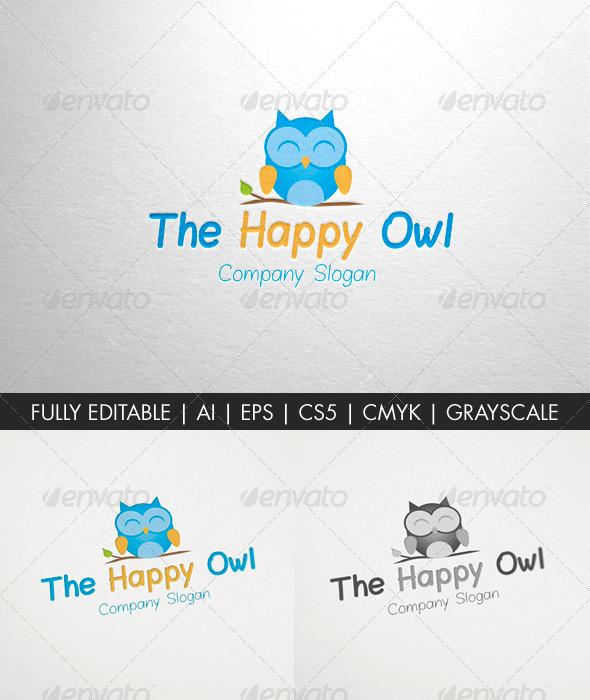 The Happy Owl - Logo Templates