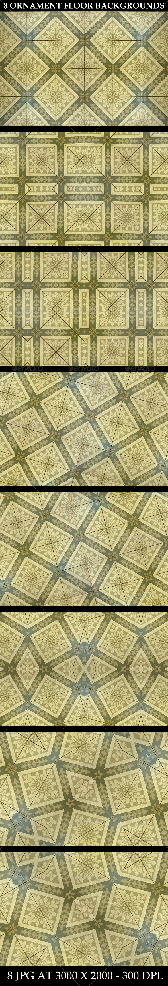 8 Ornament Floor Background Patterns - Patterns Backgrounds