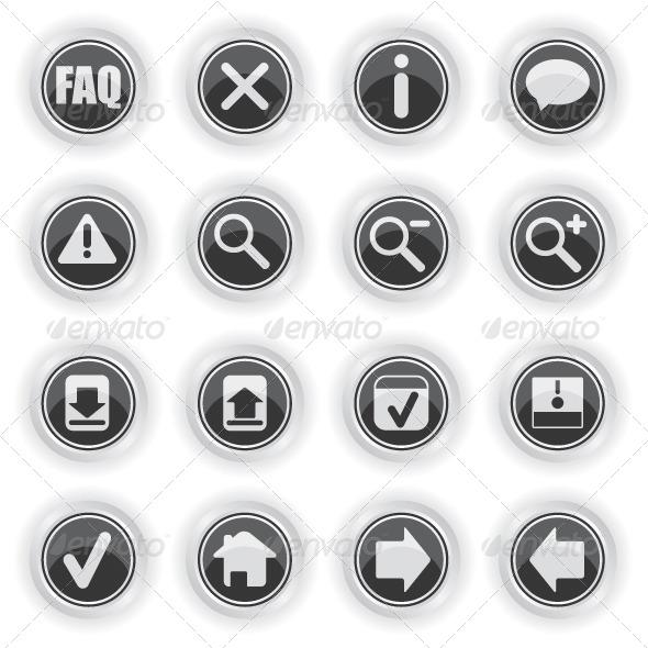 Web Symbol Icons - Web Elements Vectors