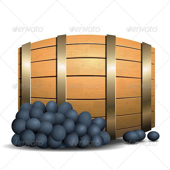 Wine Barrel  - Objects Vectors