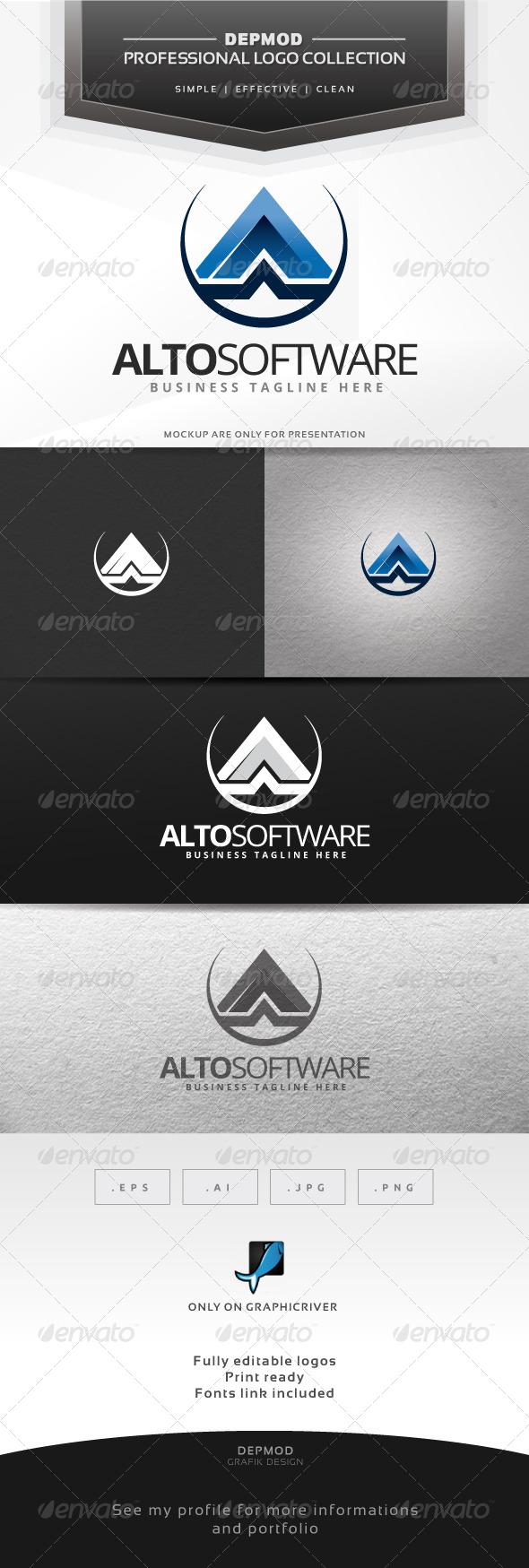 Alto Software Logo - Letters Logo Templates