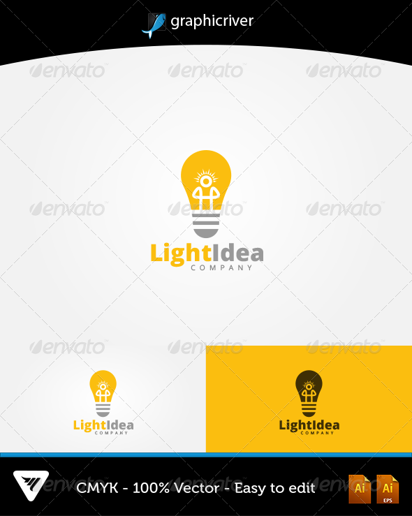 LightIdea Logo - Logo Templates