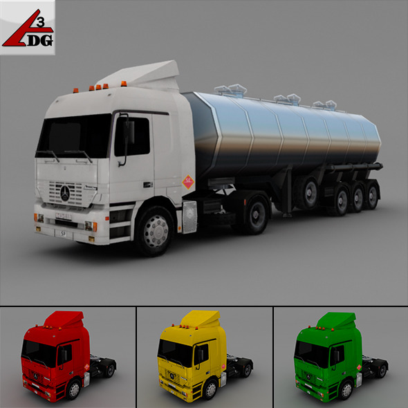 Mercedes Actros - 3DOcean Item for Sale