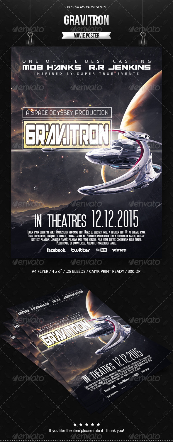 Gravitron - Movie Poster - Miscellaneous Events